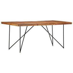 vidaXL tömör akácfa étkezőasztal 180 x 90 x 76 cm kép