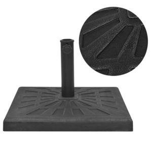 vidaXL négyszög alakú, fekete gyanta napernyő talp 19 kg kép