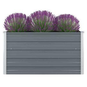 vidaXL szürke horganyzott acél kerti magaságyás 100 x 100 x 45 cm kép