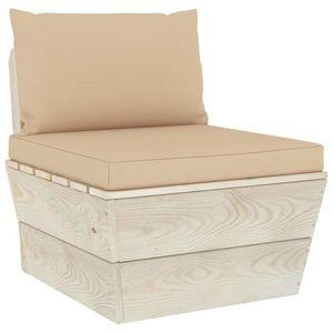vidaXL impregnált lucfenyő kerti raklap középső kanapé párnákkal kép