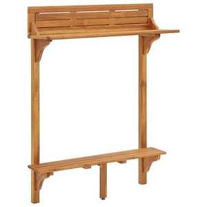 vidaXL tömör akácfa erkély bárasztal 90 x 37 x 122, 5 cm kép