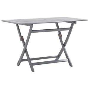 vidaXL tömör akácfa összecsukható kerti asztal 120 x 70 x 75 cm kép
