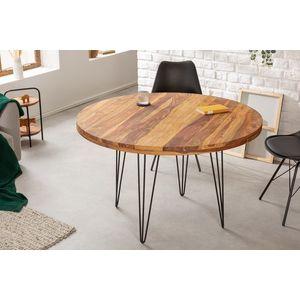 Design kerek étkezőasztal Elegant 120 cm Sheesham kép