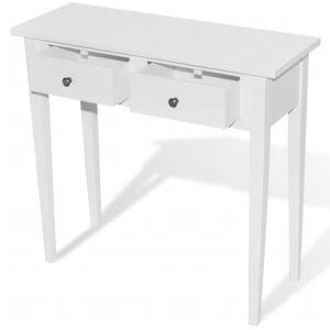 vidaXL fehér fésülködőasztal kettő fiókkal kép