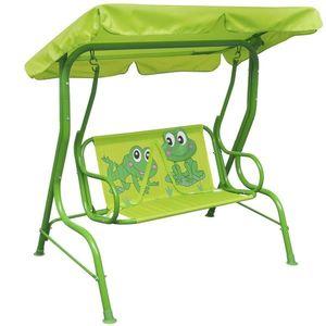 vidaXL gyerek hintaágy zöld kép