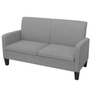 vidaXL 2 személyes világosszürke kanapé 135 x 65 x 76 cm kép