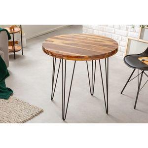 Design kerek étkezőasztal Elegant 80 cm Sheesham kép