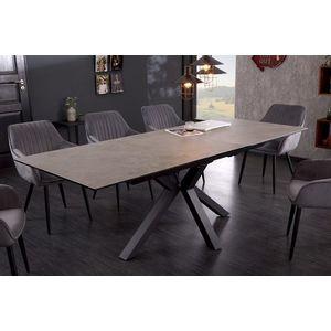 Design étkezőasztal Age 180-225 cm kerámia beton kép