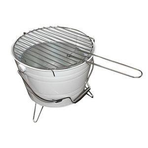 Grillsütő vödör Mini BBQ Fehér kép