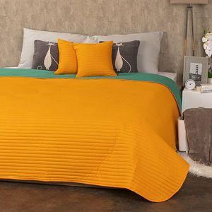 4Home Doubleface ágytakaró narancssárga/zöld, 220 x 240 cm, 2 ks 40 x 40 cm kép