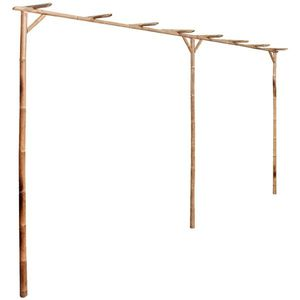 vidaXL bambusz pergola 385 x 40 x 205 cm kép
