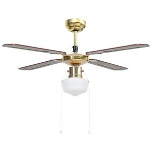 vidaXL barna mennyezeti ventilátor lámpával 106 cm kép