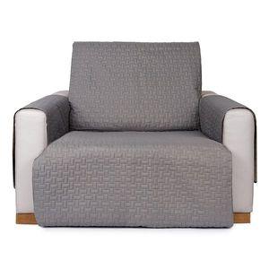 4Home Doubleface fotelhuzat szürke/világosszürke, 60 x 220 cm, 60 x 220 cm kép