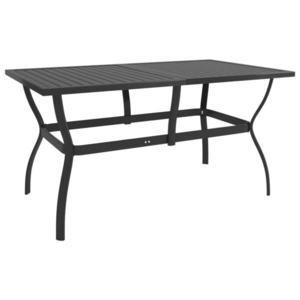 vidaXL antracitszürke acél kerti asztal 140 x 80 x 72 cm kép