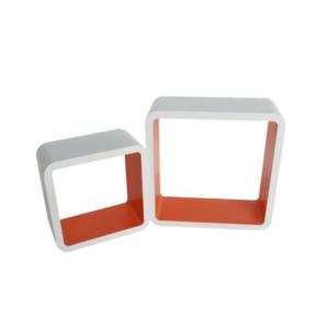 Polc, 2db, fehér-narancssárga, FIDO FY 11058 kép