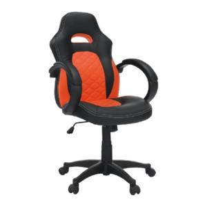 Irodai szék, textilbőr fekete/narancssárga, NELSON kép