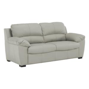 Bőr 3 személyes kanapé, bőr pampas hellgrau M9010, DANILO kép