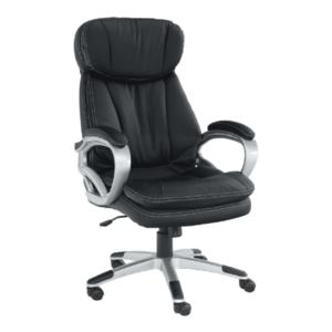 Irodai szék, fekete műbőr, ROTAR kép