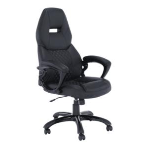 Irodai szék, fekete műbőr, HEVYR kép