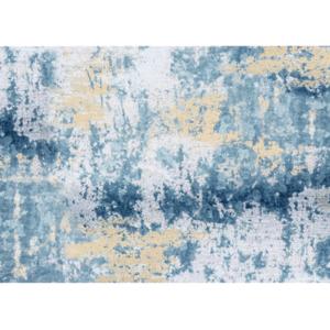 Szőnyeg, kék/szürke/sárga, 80x200, MARION tip 1 kép