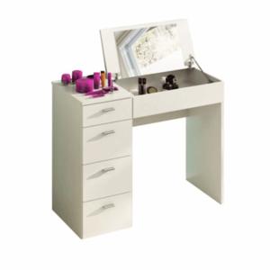 Sminkasztal, fésülködő asztal, fehér, BELINA kép