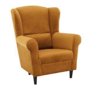 Füles fotel, szövet mustár, CHARLOT kép