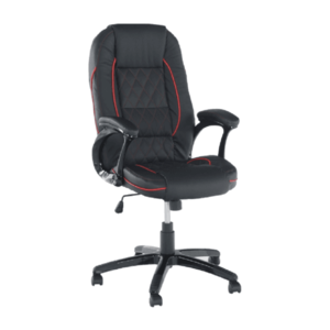 Irodai szék, textilbőr fekete/piros szegély, PORSHE New kép