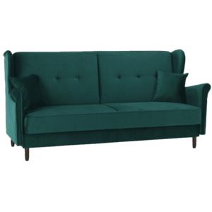 Kinyitható kanapé, zöld szövet, COLUMBUS kép