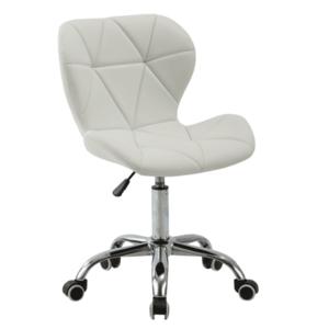 Irodai fotel, fehér/króm, ARGUS kép