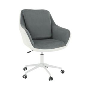 Irodai fotel, fehér/szürke, IMELDA kép