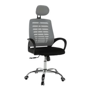 Irodai szék, szürke/fekete, ELMAS kép