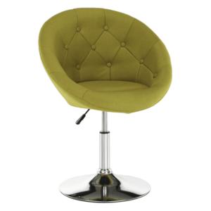 Forgó fotel, sárgászöld/króm, GULEN kép