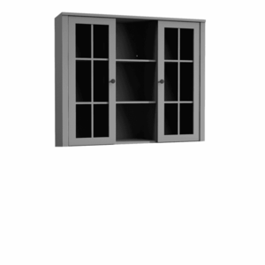 Komód ráépítés W2D, vitrin, szürke, PROVANCE kép