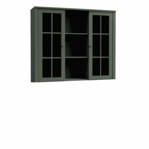 Komód ráépítés W2D, vitrin, zöld, PROVANCE kép