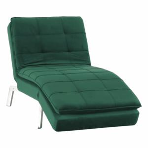 Fotel ágyfunkcióval, smaragd/króm, REMAN kép