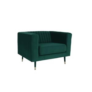 fotel, smaragd/fekete/gold sárgaréz arany, SOMY 1 kép