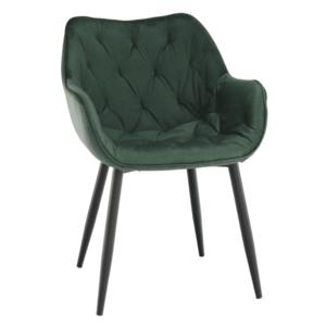 Dizájnos fotel, zöld Velvet anyag, FEDRIS kép