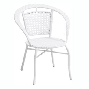 Kerti fotel, fehér, JENAR kép