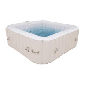 Felfújható pezsgőfürdő, fehér/szürke barna taupe, 4-6 személy, 910 l, Kamino 4 Típus kép