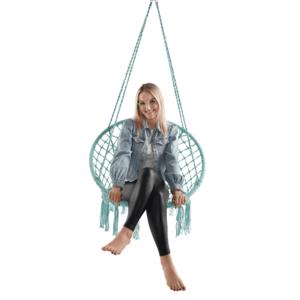 Függő szék, pamut+fém/menta, AMADO 2 NEW kép