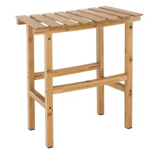 Íves kisasztal pezsgőfürdőhöz, természetes bambusz, VIREO TYP 1 kép