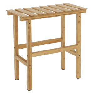 Téglalap alakú kisasztal pezsgőfürdőhöz, természetes bambusz, VIREO TYP 2 kép