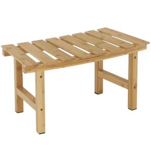 Íves kisasztal pezsgőfürdőhöz, természetes bambusz, VIREO TYP 3 kép