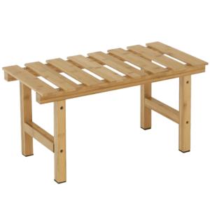 Téglalap alakú kisasztal pezsgőfürdőhöz, természetes bambusz, VIREO TYP 4 kép