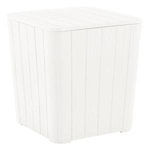Kerti tároló doboz/kisasztal, fehér, IBLIS kép