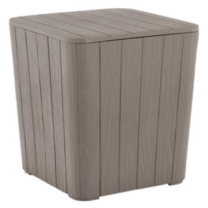 Kerti tároló doboz/kisasztal, szürke, IBLIS kép
