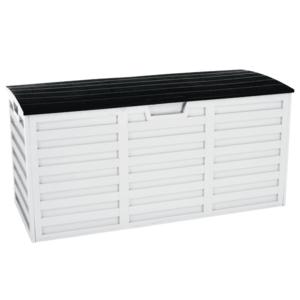Kerti tároló doboz, fehér/fekete, PADMO kép