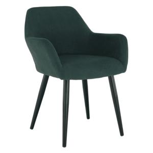 Design fotel, zöld/fekete, LACEY kép