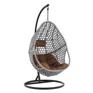 Függő szék, szürke/fekete/barna, NEUL kép