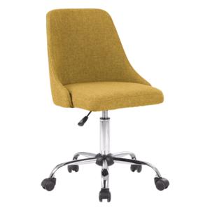 Irodai szék, sárga/króm, EDIZ kép